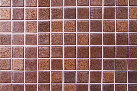 Tile wall background from mosaic  photo