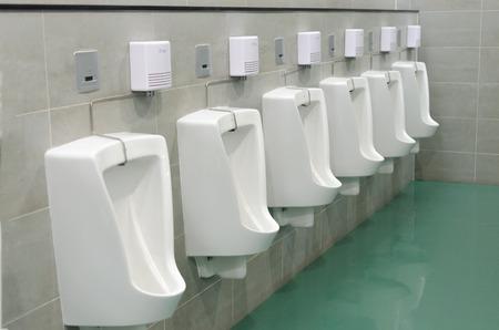Clean public men toilet room, wc photo