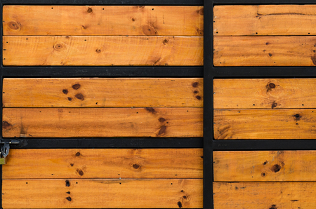 barnwood: Weathered old barn wood door with vintage iron hinges on an antique farmhouse. Stock Photo