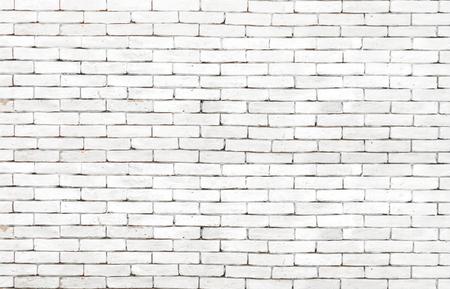 High resolution white grunge brick wall background Archivio Fotografico
