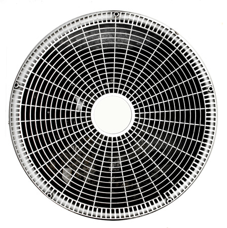 Ac Condenser air through the use of old rust . Stock Photo