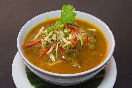 Kaeng Hung Ley Moo (Pork Curry) Northern Thai food . photo