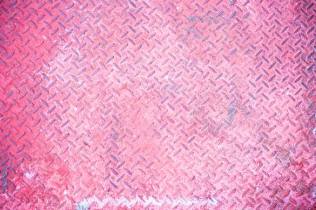 salvage yards: Seamless vintage pink steel diamond plate texture .