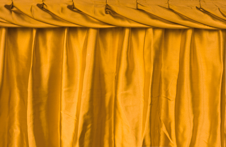 Yellow fabric silk texture for background . Stock Photo - 34827536