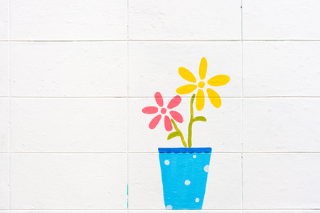 endlessly: flowers paint on a white background. Seamless pattern. Stock Photo