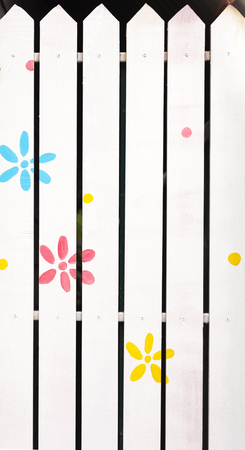 flowers paint on a white background. Seamless pattern. photo