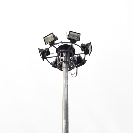 stadium lights: Stadium lights, isolated on white background