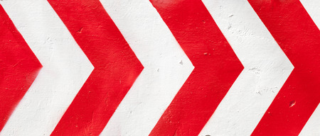 alloy: Red and white grunge warning stripes background. Stock Photo