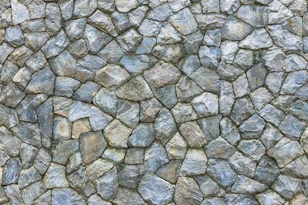 Stone wall. Texture of different forms stones similar to wall.