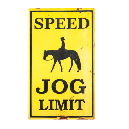jog: Speed JOG limit sign with clipping path .
