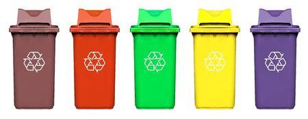 recycle bin: colorido papelera de reciclaje