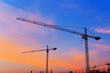 Construction Site at Dusk Stock Photo - 17338342