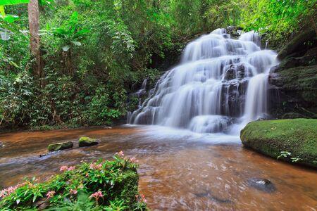 torrent: beautiful Mundaeng Waterfall in Thailand