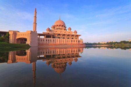 Putra Mosque located in Putrajaya city the new Federal Territory of Malaysia Editorial