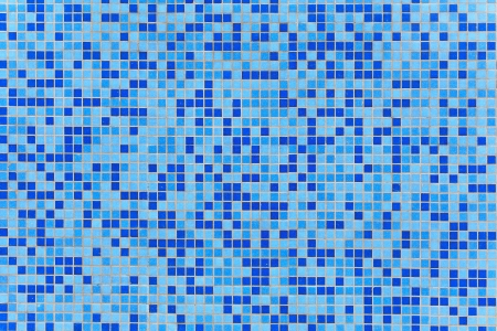 blur ceramic mosaic using in pool background Stock Photo