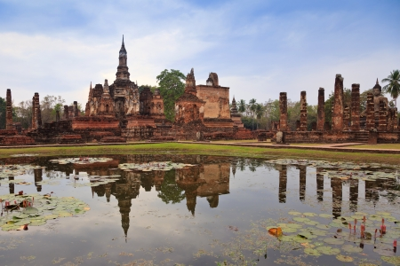 world heritate Sukothai Historical Park, Thailand Stock Photo
