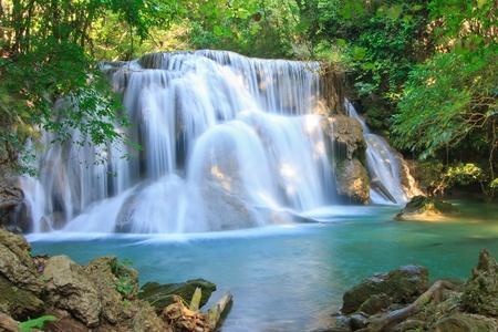 Hui Kamin Waterfall, Kanchanaburi, Thailand photo