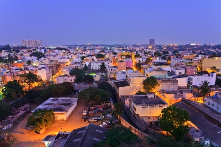 tightly: tightly house in resident zone of Bangalore City, India Stock Photo