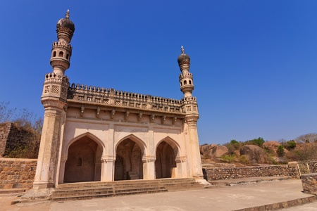 old ruin masjid at Golkonda Fort, Hyderabad India photo