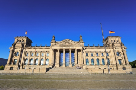 Reichstag - a building of parliament of Germany, Berlin