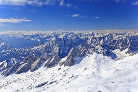 alpine alps view from Zugspitze top of Germany photo