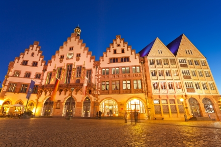 roemer: Tthe Roemer place old town of Frankfurt, Germany Stock Photo