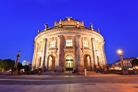 bode: night view of Bode Museum on museum island, Berlin, Germany Editorial