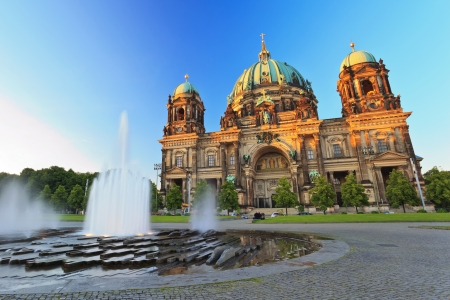 Berlin Cathedral  Berliner Dom  Berlin, Germany at twilight time