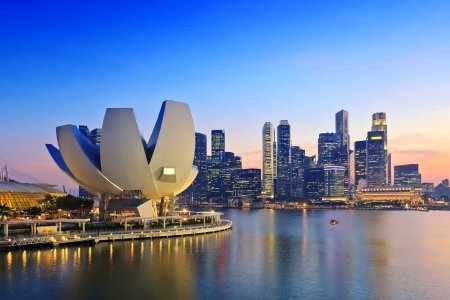 Singapore Skyline and view of Marina Bay Éditoriale