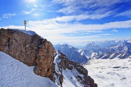 Zugspitze top of Germany photo