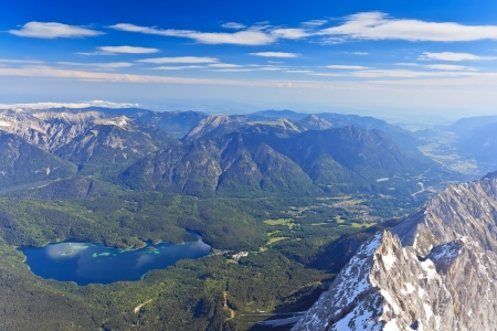 Eibsee lake and Bavarian Alps of Germany