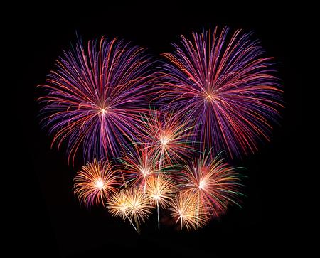 hanabi: fireworks Stock Photo