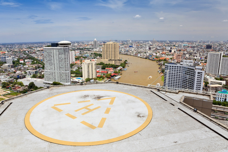 helicopter pad: Helicopter landing pad