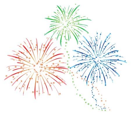Feuerwerk Standard-Bild - 24522027