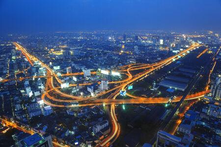 aerial view city: Bangkok aerial view city skyline
