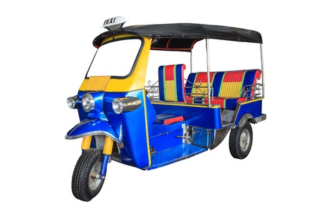 Thailand dreirädrige einheimischen Taxi Tuk Tuk Standard-Bild - 25833184