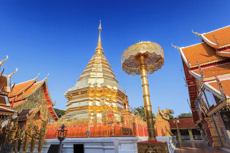 doi: Doi Suthep temple at chiangmai, thailand Stock Photo
