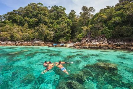 koh: snorkel diving at Koh Lipe of Andaman sea, Thailand Stock Photo