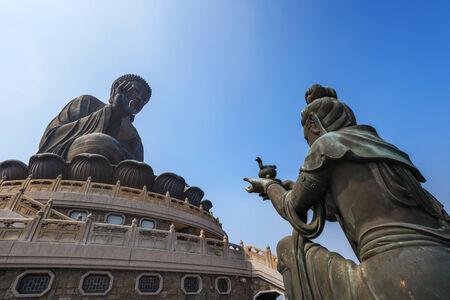lantau: giant bronze buddha statue, Lantau Island, Hong Kong