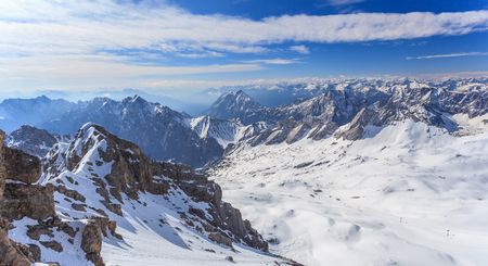 view from Zugspitze top of Germany photo