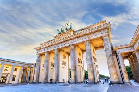 Porta di Brandeburgo di Berlino, Germania Archivio Fotografico - 26575698