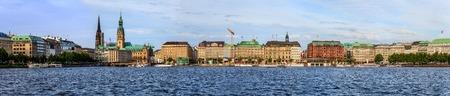 Hamburg city panorama skyline, Germany