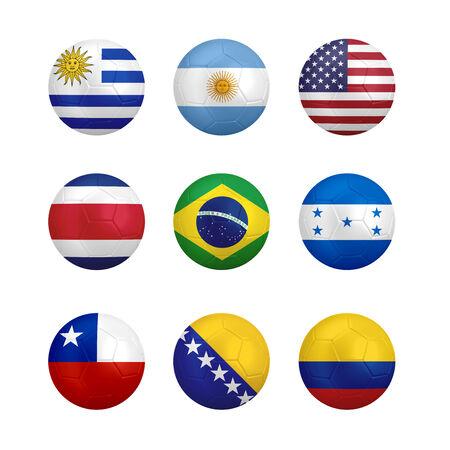 bandera de uruguay: Balón de fútbol con la bandera aisladas sobre fondo blanco