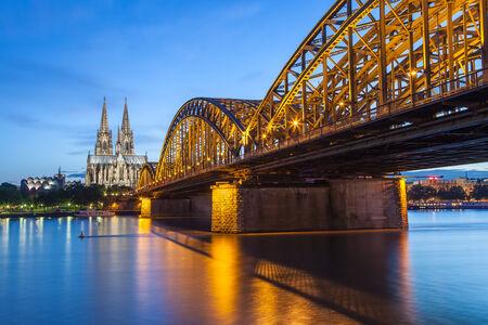 Cologne city skyline Germany photo