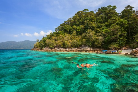 snorkel diving at Koh Lipe of Andaman sea, Thailand Standard-Bild