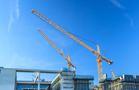construction machines: construction site