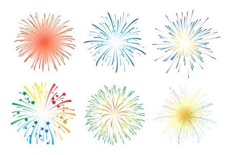 celebracion: Fuegos artificiales ilustración Vectores