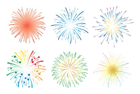 Fireworks illustration Vettoriali