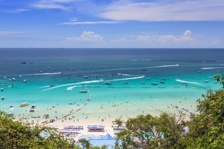 beautiful beach and ocean at Pattaya, Thailand