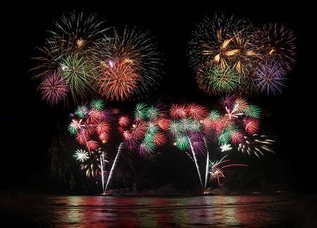 fireworks display: fireworks display Stock Photo